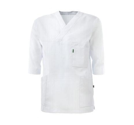 helseklaer-kittel-v-hals-427-100-bomull-unisex-modell-hvit
