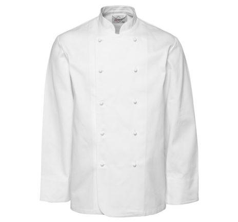 kokkejakke-segers-2330-hvit-polyesterbomull-hvit